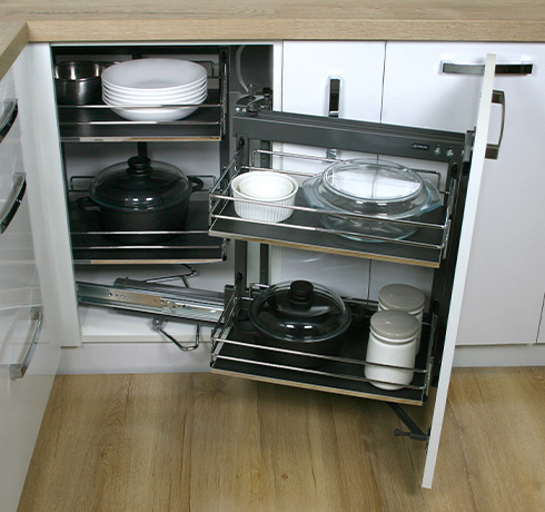 Top Of The Line Corner Cabinet Storage – Kitchen Corner Carousel Style Kitchen Corner Unit Storage