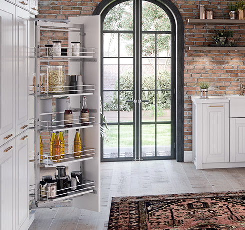 Maximize storage with flawless tall cabinets