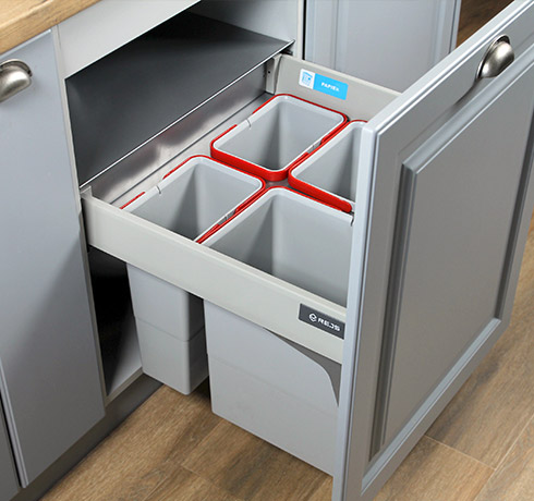 State-Of-The-Art Kitchen Waste Bins   Dual Kitchen Bin   Pull Out Kitchen Bin