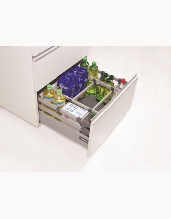 Comfort Box Front drawer - soft close - white - rectangular