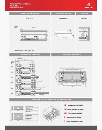 Comfort Box Inner Drawer - soft close - silver - round