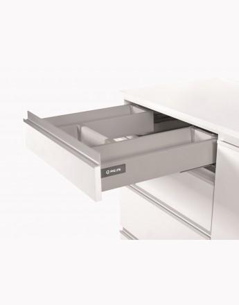Under sink front drawer - soft close-silver