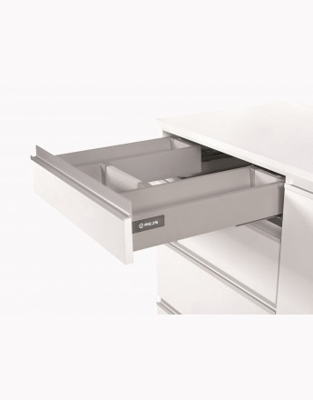 Under sink front drawer - push open-silver
