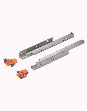 Undermount drawer runners soft close - 3D slide - up to 19mm board