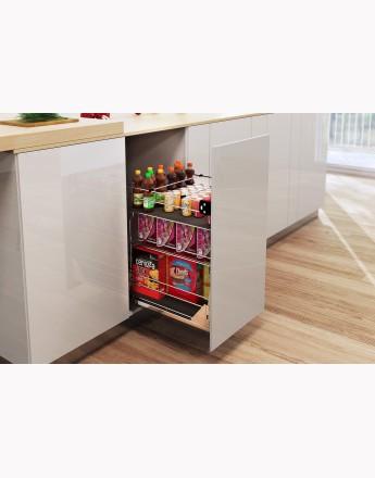 Pull out kitchen basket storage self/soft close 300, 400, 500, 600mm Variant Multi