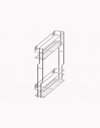Pull Out Soft Close Wire Basket Kitchen Storage Unit 150 - 200 mm Variant Multi