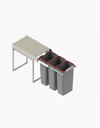 KITCHEN WASTE BIN SOFT CLOSE 300mm and 400mm