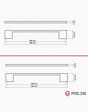 BOSS BAR Handles Kitchen, Bedroom & Office Cabinet Door Handles (D705)