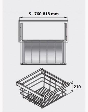 Wire baskets Elite - wardrobe - practical - 600mm, 800 mm, 900mm