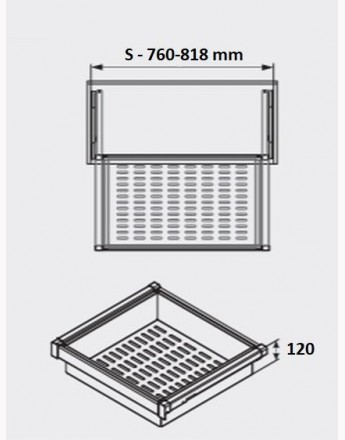 Rattan Elite baskets - wardrobe - practical - 600mm, 800mm, 900mm