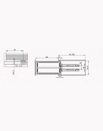 CARGO MINI BASE - MAXIMA EVO - kitchen, storage solution