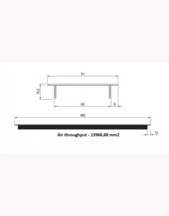 Aluminium Vent Grill Kitchen Plinth / Worktop Heat