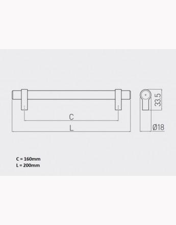 TRIEST - kitchen, bedroom and office cabinet door handle