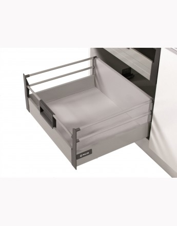 Comfort Box Front drawer - soft close - white - round