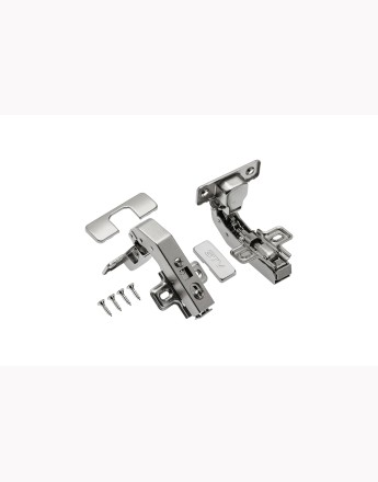 Self-closing hinge/hydraulic angular 90°
