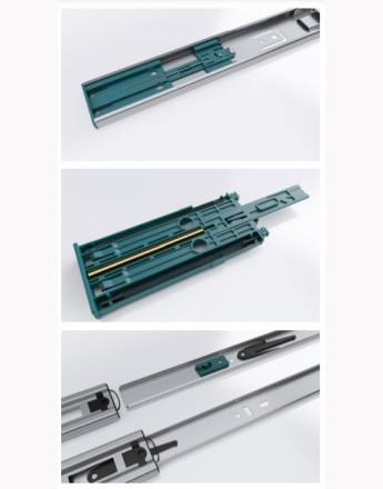 Solid slide - soft close drawer runners